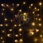 """Гирлянда Айсикл (бахрома) светодиодный, 6,0 х 1,5 м, черный провод """"каучук"""", 230 В, диоды тепло-белые, Neon-Night"""