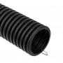Труба гофрированная из ПНД, с зондом, черная, O40 мм (бухта 15 м/уп.) REXANT