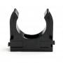 Крепеж-клипса для трубы o 32 мм, черная (100 шт./уп.) REXANT