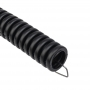 Труба гофрированная из ПНД, с зондом, черная, O20 мм (бухтa 10 м/уп.) REXANT