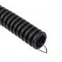 Труба гофрированная из ПНД, с зондом, черная, O25 мм (бухта 10 м/уп.) REXANT