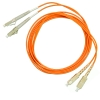 Шнур оптический 2LC/PC-2SC/PC, MM, duplex, 50/125, 1m