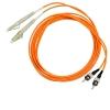 Шнур оптический 2LC/PC-2ST/PC, MM, duplex, 50/125, 1m