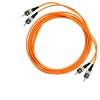 Шнур оптический 2ST/PC-2ST/PC, MM, duplex, 50/125, 1m