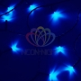 "Гирлянда ""Твинкл Лайт"" 4 м, темно-зеленый ПВХ, 25 LED, цвет: Синий Neon-Night"