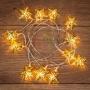 """Гирлянда светодиодная на солнечной батарее """"Звезды"""" 12 LED ТЕПЛЫЙ БЕЛЫЙ 1,2 метра"""