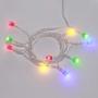 Гирлянда светодиодная «Шарики» 1.5 м, 10 LED, прозрачный ПВХ, цвет свечения мультиколор, 2 х АА (батарейки не в комплекте) NEON-NIGHT