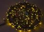 """Гирлянда """"Твинкл Лайт"""" 20 м, 240 диодов, цвет желтый, черный провод """"каучук"""" Neon-Night"""