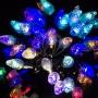 """Гирлянда """"Мультишарики"""" O17,5 мм, 10 м, черный Каучук, 100 диодов, цвет RGB Neon-Night"""