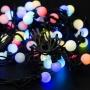 Гирлянда Мультишарики O23 мм, 10 м, черный каучук, 80 LED, свечение с динамикой, цвет RGB Neon-Night