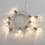 Гирлянда светодиодная «Лампочки» 10 LED, 1.5 м, прозрачный ПВХ, теплый белый цвет свечения, 2 х АА (батарейки не в комплекте) NEON-NIGHT