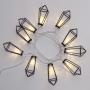 Гирлянда светодиодная «Кристаллы» черные 10 LED, 1,5 м, прозрачный ПВХ, теплый белый свет свечения, 2 х АА (батарейки не в комплекте) NEON-NIGHT