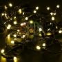 Гирлянда Нить 10м, постоянное свечение, черный ПВХ, 24В, цвет: Жёлтый Neon-Night