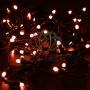 Гирлянда Нить 10м, постоянное свечение, черный ПВХ, 24В, цвет: Красный Neon-Night