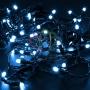 Гирлянда Нить 10м, постоянное свечение, черный ПВХ, 24В, цвет: Синий Neon-Night