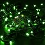 Гирлянда Нить 10м, постоянное свечение, черный ПВХ, 24В, цвет: Зелёный Neon-Night
