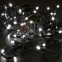 Гирлянда Нить 10м, постоянное свечение, черный ПВХ, 24В, цвет: Белый Neon-Night