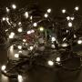 Гирлянда Нить 10м, постоянное свечение, черный ПВХ, 24В, цвет: Тёплый белый Neon-Night