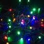 Гирлянда Нить 10м, постоянное свечение, черный ПВХ, 24В, цвет: Мультиколор Neon-Night