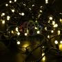 Гирлянда Нить 10м, постоянное свечение, черный ПВХ, 230В, цвет: Жёлтый Neon-Night