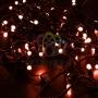 Гирлянда Нить 10м, постоянное свечение, черный ПВХ, 230В, цвет: Красный Neon-Night