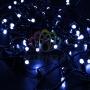 Гирлянда Нить 10м, постоянное свечение, черный ПВХ, 230В, цвет: Синий Neon-Night