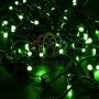 Гирлянда Нить 10м, постоянное свечение, черный ПВХ, 230В, цвет: Зелёный Neon-Night