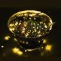 Гирлянда Нить 10м, постоянное свечение, чёрный ПВХ, 220В, цвет: Розовое золото