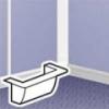 Адаптер для монтажа рамок Mosaic для короба 40х12.5, 40х16