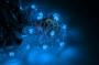 """Готовый набор: Гирлянда """"LED Galaxy Bulb String"""", 30 ламп, 10 м, в лампе 6 LED, цвет синий, провод черный каучуковый, влагостойкая IP54 Neon-Night"""