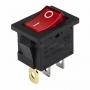 Выключатель клавишный 24V 15А (3с) ON-OFF красный с подсветкой  Mini  REXANT (уп10шт)