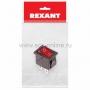 Выключатель клавишный 250V 6А (4с) ON-OFF красный  с подсветкой  Mini  (RWB-207, SC-768)  REXANT Индивидуальная упаковка 1 шт