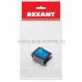 Выключатель клавишный 250V 16А (4с) ON-OFF синий  с подсветкой (RWB-502, SC-767, IRS-201-1)  REXANT Индивидуальная упаковка 1 шт