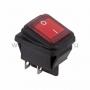 Выключатель клавишный 250V/15А (4с) ON-OFF красный с подсветкой влагозащита (RWB-507)(Цена за шт.,в уп.10шт.)