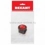 Выключатель клавишный круглый 250V 3А (3с) ON-OFF красный  с подсветкой  Micro  (RWB-106, SC-214)  REXANT Индивидуальная упаковка 1 шт