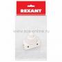 Выключатель-кнопка 250V 2А (2с) ON-OFF  белый  (PBS-17A) (для настольной лампы)  REXANT Индивидуальная упаковка 1 шт