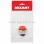 Выключатель-кнопка  металл 220V 2А (2с) (ON)-OFF  O16.2  красная  (RWD-306)  REXANT Индивидуальная упаковка 1 шт