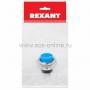 Выключатель-кнопка  металл 220V 2А (2с) (ON)-OFF  O16.2  синяя  (RWD-306)  REXANT Индивидуальная упаковка 1 шт