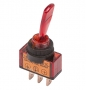 Тумблер 24V 20А (3c) ON-OFF однополюсный  с красной подсветкой  REXANT(Цена за шт.,в уп.10шт.)