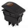 Выключатель клавишный 12V 35А (4с) ON-OFF желтый с подсветкой  REXANT (Цена за шт,в уп.10шт)