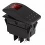 Выключатель клавишный 24V 35А (4с) ON-OFF красный с подсветкой  REXANT (уп10шт)