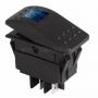 Выключатель клавишный 24V 35А (4с) ON-OFF синий с подсветкой  REXANT (уп10шт)