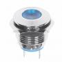 Индикатор металл O16 220В подсв/синяя LED  REXANT
