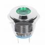 Индикатор металл O16 220В подсв/зеленая LED  REXANT