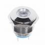 Индикатор металл O16 220В подсв/белая LED  REXANT