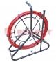Протяжка кабельная (мини УЗК на барабане), 50м, стеклопруток, d=6мм, латунный наконечник, заглушка