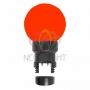 Лампа шар 6 LED для белт-лайта, цвет: Красный, O45мм, Красная колба Neon-Night
