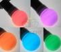 Лампа шар светодиодная,  9 SMD 3528 диодов, RGB, диаметр 50 мм., E27, 220V, IP65 Neon-Night