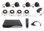 Комплект видеонаблюдения 4 внутренние черно-белые камеры, матрица SONY CCD 600 ТВЛ, 3,6 мм (без HDD)