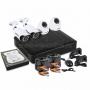 Комплект видеонаблюдения стандарта AHD-M 2 внутренние камеры 2 наружные камеры (с жестким диском) ProConnect